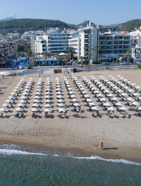 AQUILA PORTO RETHYMNO HOTEL – BEACH FRONT AERIAL VIEW